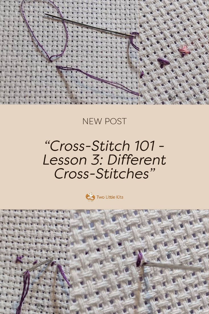 Let's have a continuation on my basic cross-stitching lessons, finally! Today I'm going to talk to you about the various different stitches you are likely to come across when reading a cross stitch pattern. Especially any of my own patterns that are deemed intermediate or advanced.