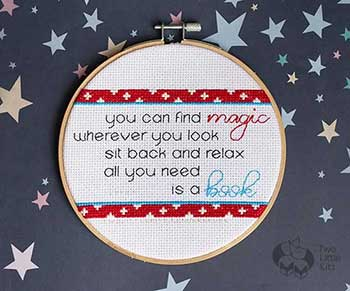 'Find Magic' Cross Stitch Pattern Demo