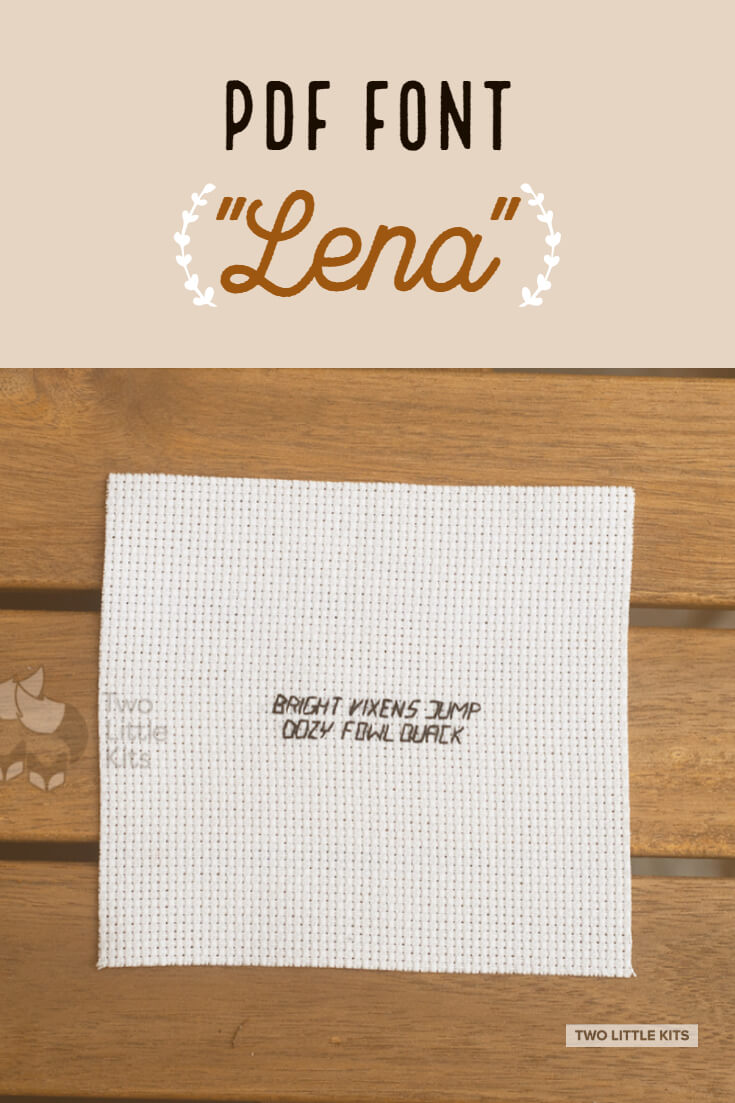 'Lena' is a super tiny embroidery and cross-stitch font that you can get -for free!- to use in your projects.