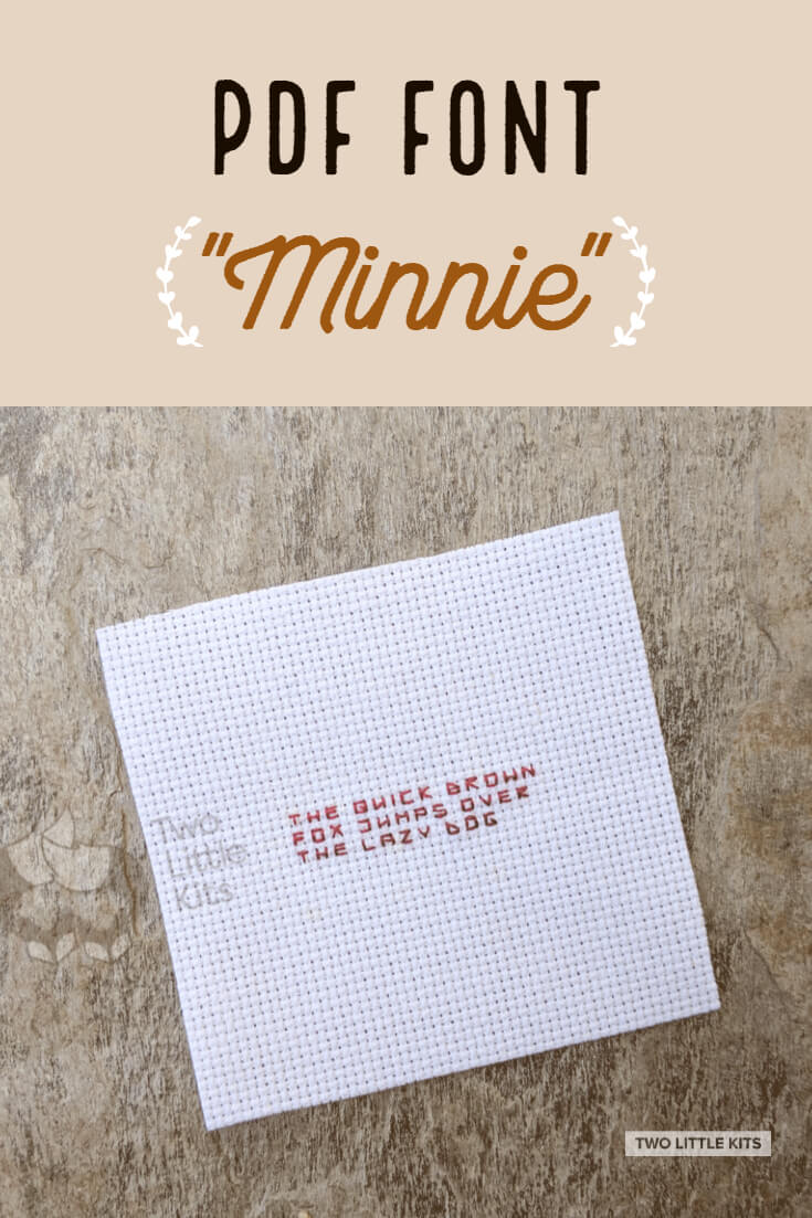 'Minnie' is a super tiny embroidery and cross-stitch font that you can get -for free!- to use in your projects.