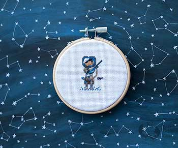 Example of Ana in cross-stitch form