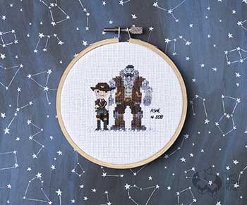 Example of Ashe in cross stitch form