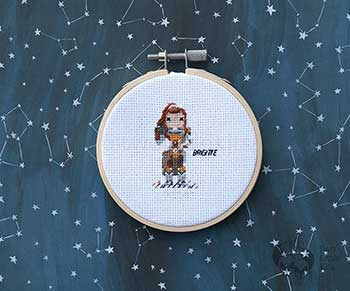 Example of Brigitte in cross stitch form