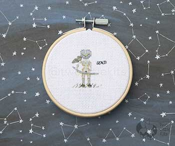 Example of Genji in cross stitch form