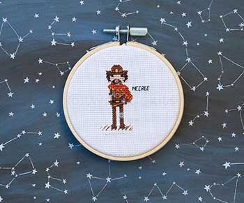 Example of McCree in cross stitch form