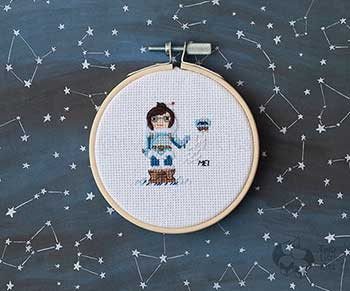 Example of Mei in cross stitch form