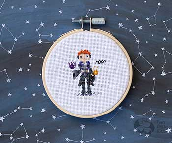 Example of Moira in cross-stitch form