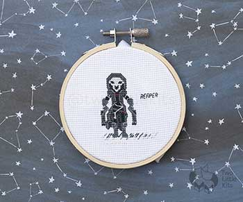 Example of Reaper in cross stitch form