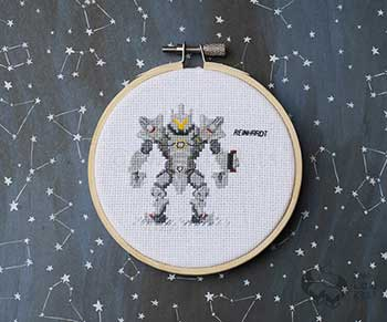 Example of Reinhardt in cross stitch form