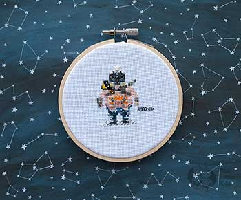 Example of Roadhog in cross stitch form