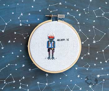 Example of Soldier: 76 in cross stitch form