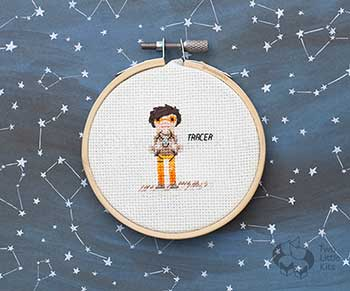 Example of Tracer in cross stitch form