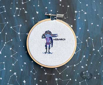 Example of Widowmaker in cross-stitch form