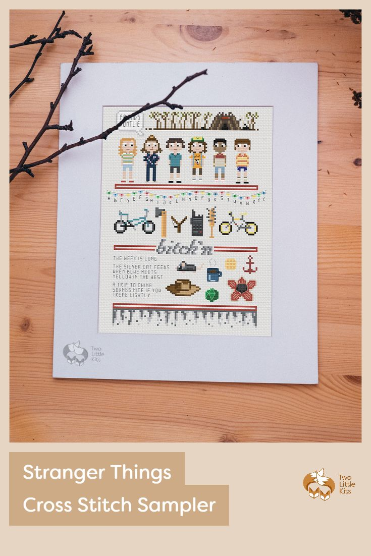 Friends don't lie. I'm your friend, right? So know that I'm not lying when I say I'm so excited to share my Stranger Things themed cross-stitch sampler with you.