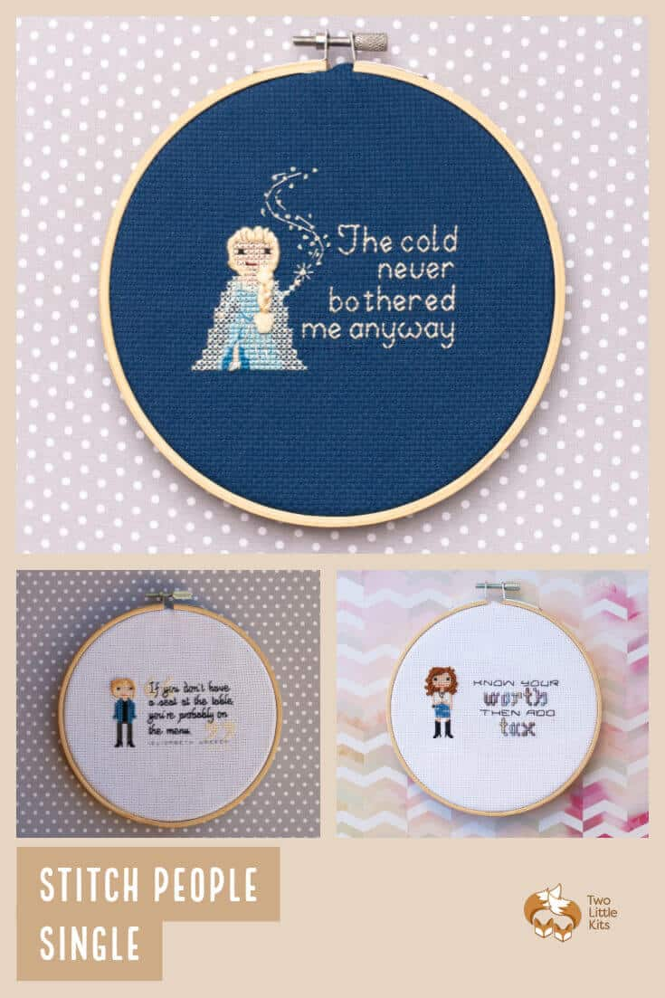A listing to receive a gorgeous, one-of-a-kind handmade cross-stitch person, character or pet. The perfect gift for a loved one or for yourself. Available for purchase through twolittlekits.com